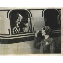 1932 Press Photo Genevieve & Hilda Zwicky Sisters Both Stewardesses United Airli