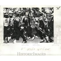 1974 Press Photo New Orleans Saints - Marching band during halftime activities.