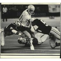 1974 Press Photo New Orleans Saints - Houston Oilers' Billy Parks catches pass.