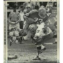 1969 Press Photo New Orleans Saints-Falcon first down RB Cannonball Butler