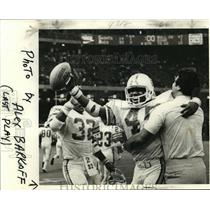 1977 Press Photo New Orleans Saints - Saints Celebrate Win Over the Bucs