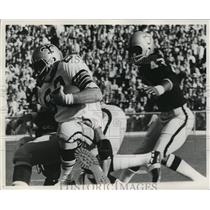 1971 Press Photo New Orleans Saints - Saints Player Carrying the Ball
