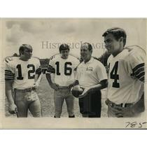 1971 Press Photo New Orleans Saints - J.D. Roberts, Bobby Scott, Ward & Hargett