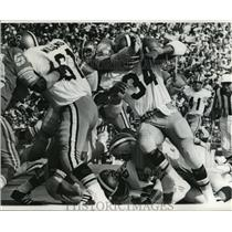 1973 Press Photo New Orleans Saints - Close Up View of Saints Action Play