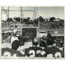 1969 Press Photo New Orleans Saints - Coach Jack Faulkner Talks Defense to Team