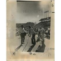 1972 Press Photo New Orleans Saints- Three of Saints injured interior linemen.