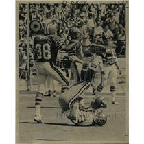 1974 Press Photo New Orleans Saints- Joel Parker Saints receiver catches pass.