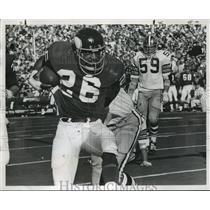 1971 Press Photo New Orleans Saints - Vikings Clint Jones gallops for yardage.