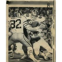 1973 Press Photo New Orleans Saints-Kansas City running back Jim Otis