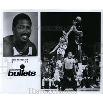 Press Photo Tom Henderson, Washington Bullets - orc09398