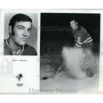 Press Photo John Arbour of Vancouver Canucks in one of his stints on ice