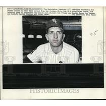 1968 Press Photo Newly acquired Washington Senators shortstop Ron Hansen