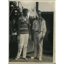 1925 Press Photo Fritz Mercus, S.W. Andrews at Longwood Bowl Tennis Tournament