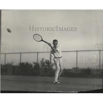 1924 Press Photo Ford M Tussuig of Pasadena at Stanford tennis matches