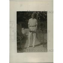 1919 Press Photo Captain Louis Graves of Harvard tennis team - net33207