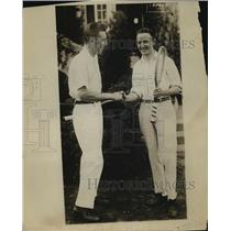 1916 Press Photo Norris Williams And William Johnston After Their Tennis Match