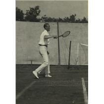 1921 Press Photo Tennis player JO Anderson in action at Davis Cup matches