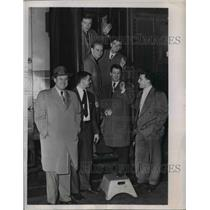 1949 Press Photo Phils members Frank Powell, Charlie Bicknell, R McDonnell