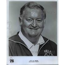 Press Photo Jack McMahon Assistant Coach Philadelphia 76ers - orc11379