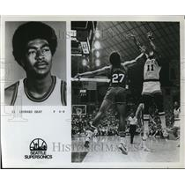 1976 Press Photo Leonard Gray of the Seattle Supersonics - orc04772