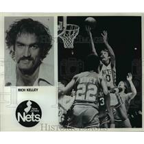 Press Photo Rich Kelly, New Jersey Nets - orc10154