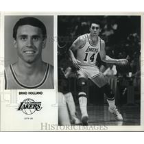 1989 Press Photo Brad Holland Los Angeles Lakers - orc09378
