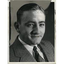 1937 Press Photo Eddie Morgan, Brooklyn Dodgers - orc04962