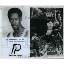 1982 Press Photo Dan Roundfield of Central Michigan University, Indiana Pacers