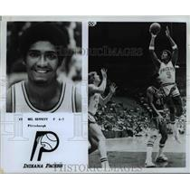 Press Photo #9 Mel Bennet, R, 6'7, Pittsburgh, Indiana Pacers - orc10183