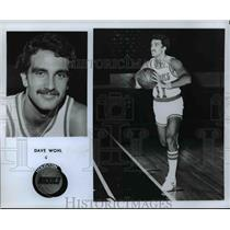 1977 Press Photo Dave Wohl of the Houston Rockets - orc13044
