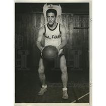 1931 Press Photo Jerry Friedman at basketball Milford Prep School - net31701