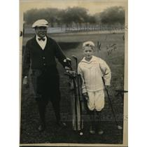 1922 Press Photo James S Stokes Jr & son James at Father & Son golf in NJ