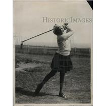 1922 Press Photo Peggy Pullen at girls golf tournament at North Foreland