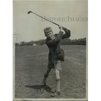 1922 Press Photo Child DH Spence age 12 on a golf course at Foreland - net33494