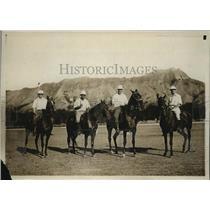 1923 Press Photo Maui Islands Championship polo team - net34033