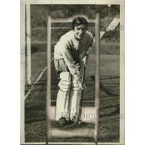 1929 Press Photo Esther Thomas goalie of Bryn MAwr field hockey team - net31480