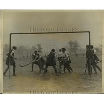 1926 Press Photo Salvage School girls at field hockey practice in NYC