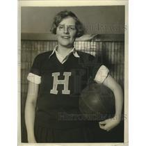 1927 Press Photo Hazel Johnson Hunter College girls basketball team - net31826