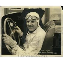 1932 Press Photo Race car driver Milton Jones at wheel of his auto Indy 500
