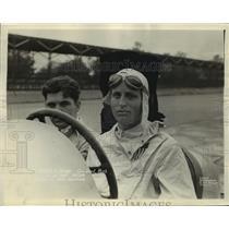 1931 Press Photo driver Charles Moran Jr. & George Reed in DuPont Special