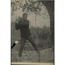 1922 Press Photo Boxer Johnny Kilbane at training at a camp - net30476
