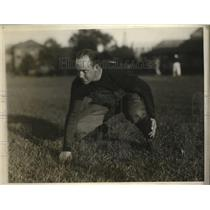 1929 Press Photo Jake Turner Out For Football Practice With The Harvard Squad