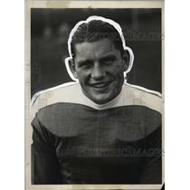 1928 Press Photo Al Lassman, New York University Football Captain, Tackle