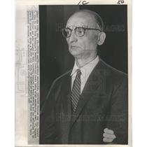 1957 Press Photo Without expression, convicted Russian spy Col. Rudolf I, Abel,