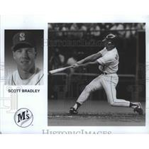 1990 Press Photo Seattle Mariners baseball player, Scott Bradley - sps00284