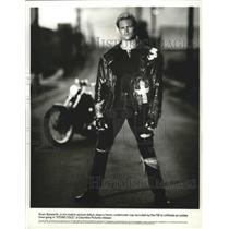 "1991 Press Photo Ex-football player, Brian Bosworth stars in ""STONE COLD"""