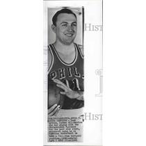 1961 Press Photo Basketball player Paul Arizin quits Philadelphia Warriors