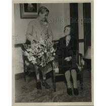 "1934 Press Photo Nova Pilbeam, of ""Little Friend,"" welcomed by Jackie Cooper"
