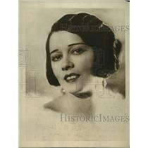 1924 Press Photo Suzanne Bennett in cast of Eark Carroll's Vanities in NYC