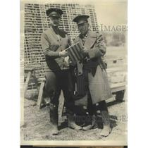 1928 Press Photo Col.D.C. McDougal and Maj. Barry L.Smith of Intl. Rifle Match
